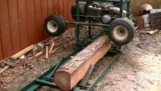 Home made sawmill from a old golf cart, works great.