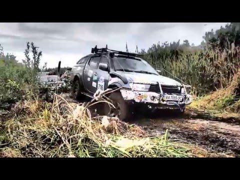 Нескучное, NISSAN np300 & L200, getting out of the mud