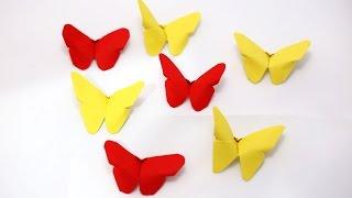 DIY / Origami - paper mini butterflies - วิธีพับผีเสื้อน่ารักๆ