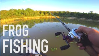 Fishing Gary Yamamotos Ranch? -- Texas Frog Fishing
