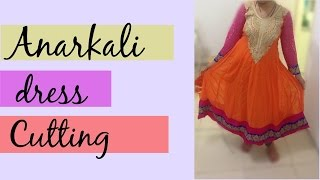 getlinkyoutube.com-24 Panel Anarkali Dress Part 1 - Marking and Cutting