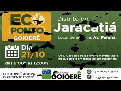 Jaracatiá recebe programa ECOPONTO neste sábado, 21