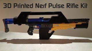 getlinkyoutube.com-Nerf Pulse Rifle - 3D Printed Kit
