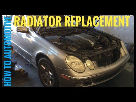 Расположение в Mercedes SL радиатора кондиционера