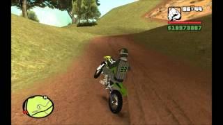 getlinkyoutube.com-GTA San Andreas || Kawasaki KX + Skin Motocross || Mod*