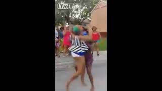 getlinkyoutube.com-Ratchets Girls Fighting In The Hood Over A $5 Coupon!!