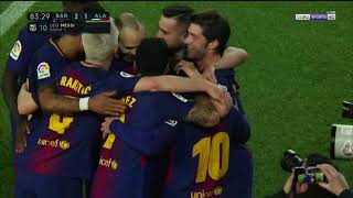 Ray Hudson's call of Lionel Messi's goal vs. Deportivo Alaves 2018.01.28