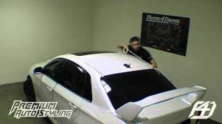 getlinkyoutube.com-Gloss Black Vinyl Roof Wrap Installation
