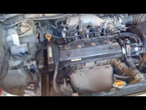 8 Замена сальников коленвала Тойота королла Спасио ае 111, двигатель 4а фе,4a-fe