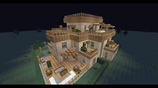 getlinkyoutube.com-Minecraft Villa mit Ubahn und automatischem Lagersystem [NEU: Download]