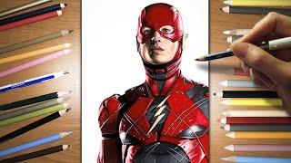 getlinkyoutube.com-Speed Drawing: Ezra Miller as The Flash | Jasmina Susak