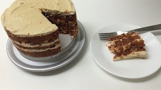 Raw Vegan Carrot Cake, With Frosting