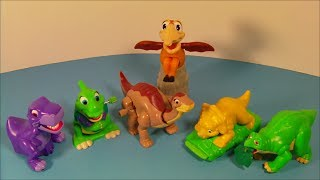 getlinkyoutube.com-1997 THE LAND BEFORE TIME COLLECTION SET OF 6 BURGER KING KID'S MEAL TOY'S VIDEO REVIEW