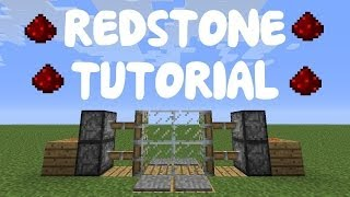 MINECRAFT PS3/PS4 EASY RED STONE DOOR