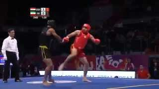 getlinkyoutube.com-World Combat Games Kung fu  2013 Mohamed youssef EGYPT) vs Arman baziari (Iran) Final 90kg