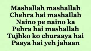 getlinkyoutube.com-Ek Tha Tiger - Mashallah Lyrics HD  720p