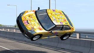 getlinkyoutube.com-Crazy Rollover Crashes #1 – BeamNG Drive