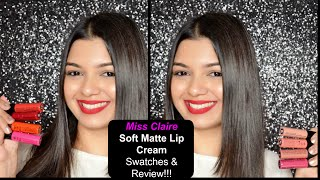 getlinkyoutube.com-Miss Claire Soft Matte Lip Cream  |  Swatches & Review