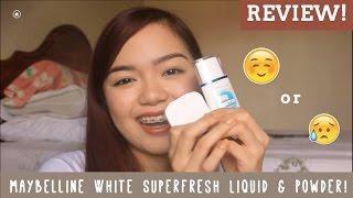 getlinkyoutube.com-Review: Maybelline White Superfresh Liquid Powder & Compact Powder | Eunice Halili