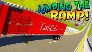 BeamNG - MORE RAMPS! TONS OF CRASHES! CAR JUMP ARENA MOD! - BeamNG Drive Gameplay / Highlights