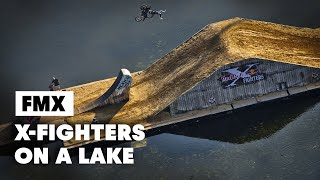 getlinkyoutube.com-First Ever FLOATING Freestyle Motocross Course - Red Bull X-Fighters Munich 2014