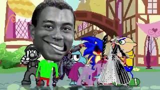 AN Mugen Request #585: O.T.Woods,Sym.Mario,Pinkamena,Sonic.exe VS RetLuigi,J.Geary,Senator,Gumball