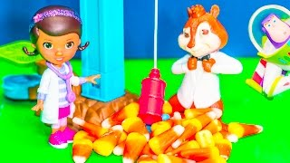 getlinkyoutube.com-ALVIN AND THE CHIPMUNKS Disney Doc McStuffins Prank Fail + Toy Story Nickelodeon Video Toys Parody