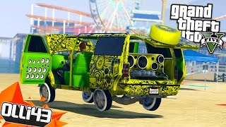getlinkyoutube.com-GTA 5 Lowrider DLC!! BIG GREEN AND LOUD! (GTA 5 Online Lowriders)