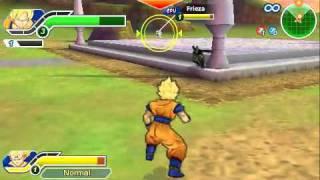 getlinkyoutube.com-[PSP] DBZ Tenkaichi Tag Team Goku and Vegeta vs Cell and Frieza