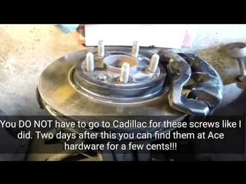 08-13 Cadillac CTS wheel hub assembly install replace.