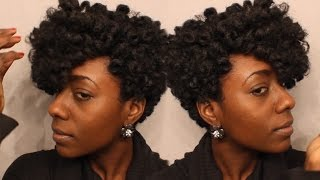 getlinkyoutube.com-Short Tapered Crochet Wig Tutorial