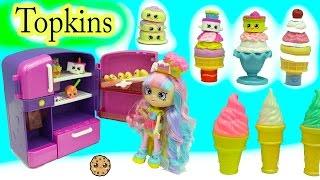 getlinkyoutube.com-Season 7 Shopkins Topkins 12 Pack with Surprise Blind Bags + Disney  D-lectables Ice Cream Treats