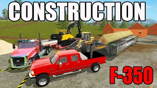 getlinkyoutube.com-FARMING SIMULATOR 2017 | HAULING CONSTRUCTION MATERIALS AND EQUIPMENT | F-350