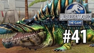 getlinkyoutube.com-Jurassic World: The Game - More Battles & Sarcosuchus Maxed! HUGE Crocodile!! [Episode 41]