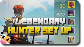 """getlinkyoutube.com-Destiny """"Legendary Gear"""" """"Hunter Set Up"""" #1 - Exotic Guns & Exotic Armor (Destiny Hunter Set Up)"""