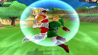 getlinkyoutube.com-Seiya and Link (Zelda) Fusion | Seiyink vs Goku Fukkatsu no F DBZ Budokai Tenkaichi 3 (MOD)