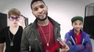 getlinkyoutube.com-Justin Bieber with Usher & Jaden - Backstage at Grammy 2011