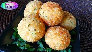 getlinkyoutube.com-كرات الأرز محشية بالجبن rice balls stuffed with cheese