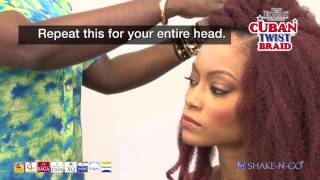 getlinkyoutube.com-EQUAL CUBAN TWIST: How to crochet install and curl