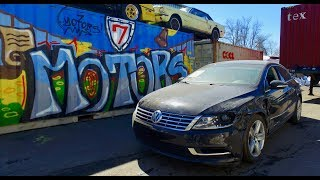 2014 VW Passat CC - страховой аукцион Копарт (copart.com).Авто из США в Украину.Точные цены.