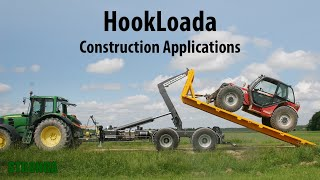 Stronga hook lift trailer applications in the construction sector