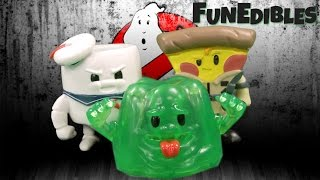 getlinkyoutube.com-FunEdibles Ghostbusters Slimer Lime Gelatin, Stay Puft Marshmallow & Pizza Venkman from USAopoly