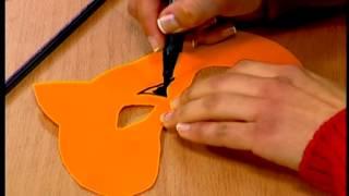 getlinkyoutube.com-كيف نصنع قناع بشكل نمر - أشكال وألوان ( تيلي لوميار)