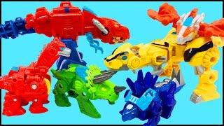 getlinkyoutube.com-Transformers Rescue Bots Chase Heatwave Blades Boulder Optimus Prime Bumblebee Dinobots Toy Figures