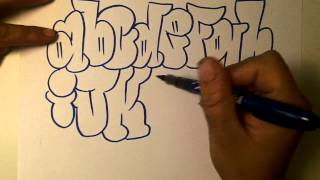 getlinkyoutube.com-how2art how to draw graffiti alphabet throwies