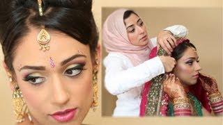 getlinkyoutube.com-Exotic Asian Bridal Makeup Tutorial Real Bride Transformation