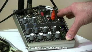 getlinkyoutube.com-Basic Home Recording Mic & Mixer Set-Up...