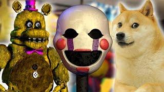 getlinkyoutube.com-POOPET, BREADBEAR AND DOGE! | Dayshift at Freddy's Good Ending #3
