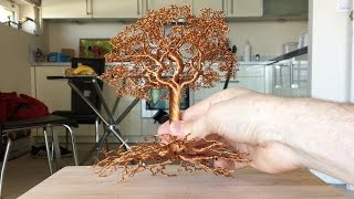 getlinkyoutube.com-Making a Detailed Wire tree, Time Lapse