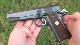 getlinkyoutube.com-4K Shooting: Colt National Match 45 - pre-70s Series 1911 excellence
